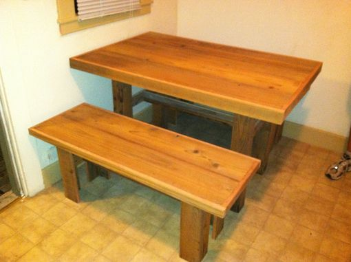 Custom Made Studio Apartment Table And Benches