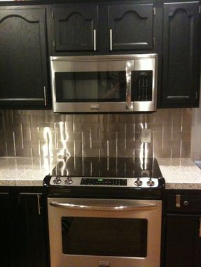 Custom Made Stainless Steel Kitchen Backsplash
