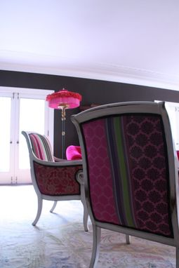 Custom Made Upholstered Chair Vintage Chair And Sofa Custom Made Ottoman And Lampshade