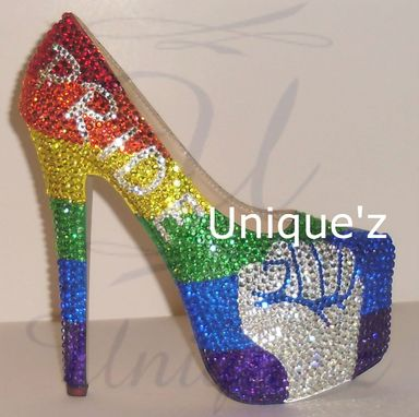 Custom Made Gay Pride Heels (Pride Fist)