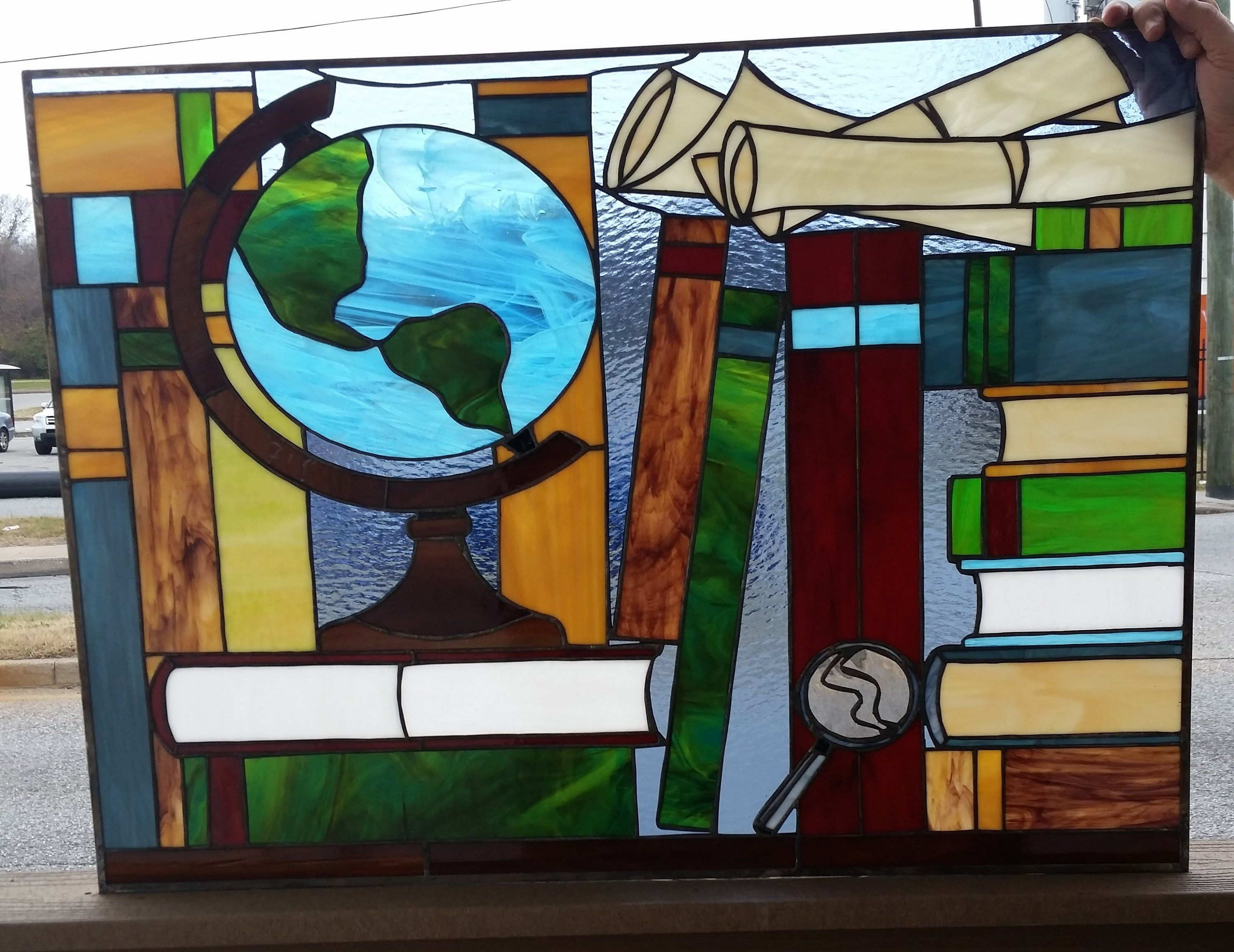 Custom Tw 129 Stained Glass Transom By Terraza Stained Glass