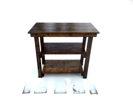 Custom Made Rustic Reclaimed Wood Kitchen Island Table
