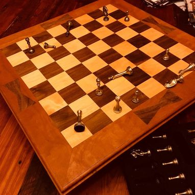 Custom Made Solid Hardwood Chessboard