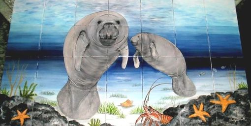 Custom Made Marinelife Tile Murals