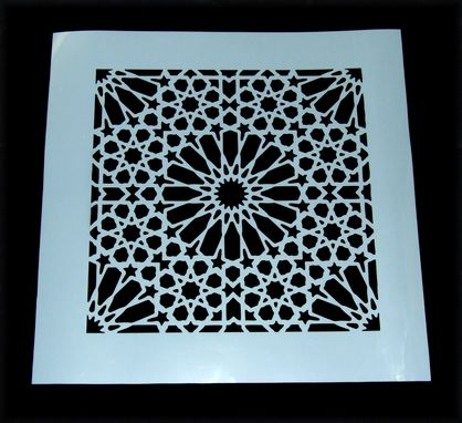 Custom Made Moroccan Tile Mylar Stencil