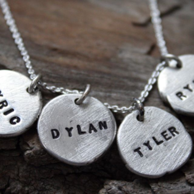 Personalized name jewelry custommade fine silver dainty disc necklace by nana smith aloadofball Image collections