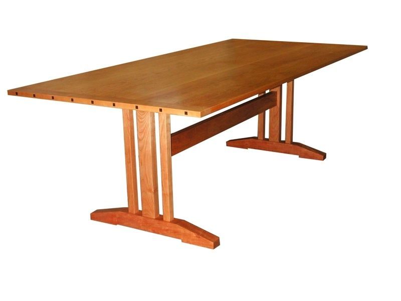 Custom Contemporary Trestle Table by William Laberge Cabinetmaker ...