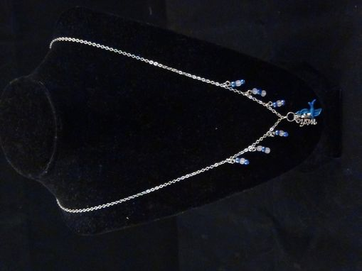 Custom Made Blue Bird Of Happiness Necklace