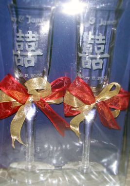 Custom Made Hand-Carved Wedding Glassware