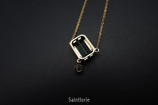 Custom Made 1.6 Carat Green Tourmaline Necklace