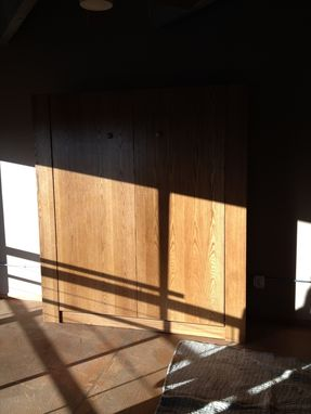 Custom Made White Oak Murphy Bed