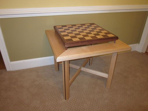 Custom Made Elevated Chess Table