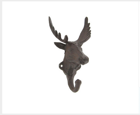 Custom Made Cast Iron Moose Hook