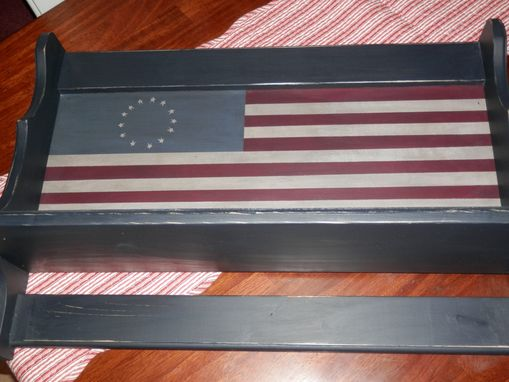 Custom Made 2 Ft Tavern Shelf W/Flag