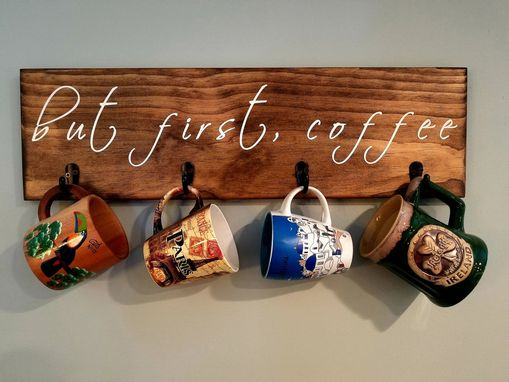 Custom Made But First Coffee Rustic Wood Sign, Pine, Custom Pallet, Coffee Sign