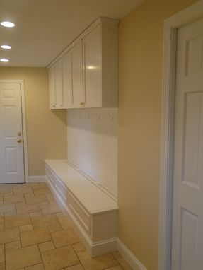 Custom Made Hall/Mudroom Bench And Storage