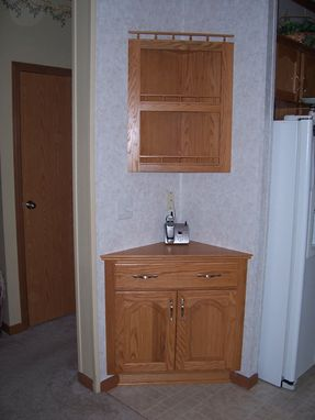 Custom Made Custom Oak Corner Cabinets