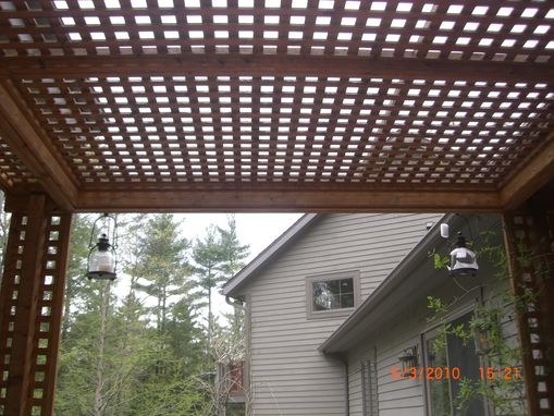 Custom Made Cedar Lattice Trellace/Pergola