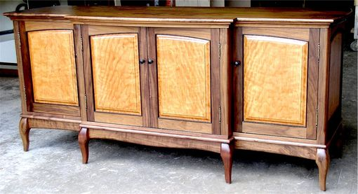 Custom Made Walnut & Figured Cherry Buffet