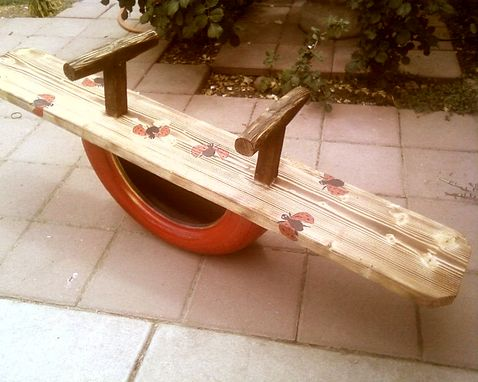 Custom Made Children Tire Seesaw