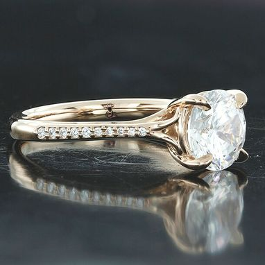 Custom Made Scroll Solitaire With Diamond Shank