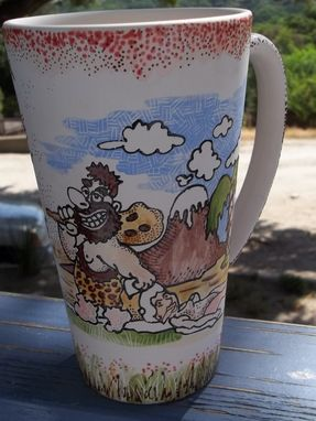 Custom Made Caveman Coffee Mug