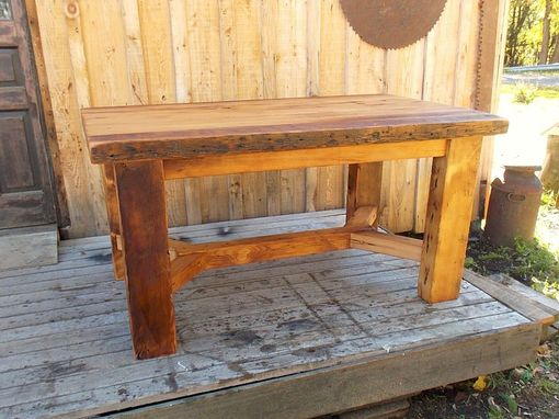 Handmade Trestle Base Heavy Farmhouse Table By Paul S
