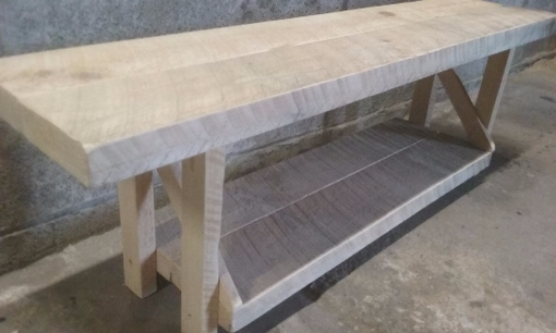 Custom Made Media Table Reclaimed Wood Media Console Table