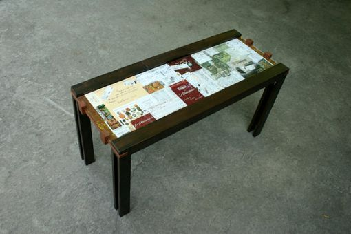 Custom Made The Coffee Table #1- Under Glass Display For Personalization