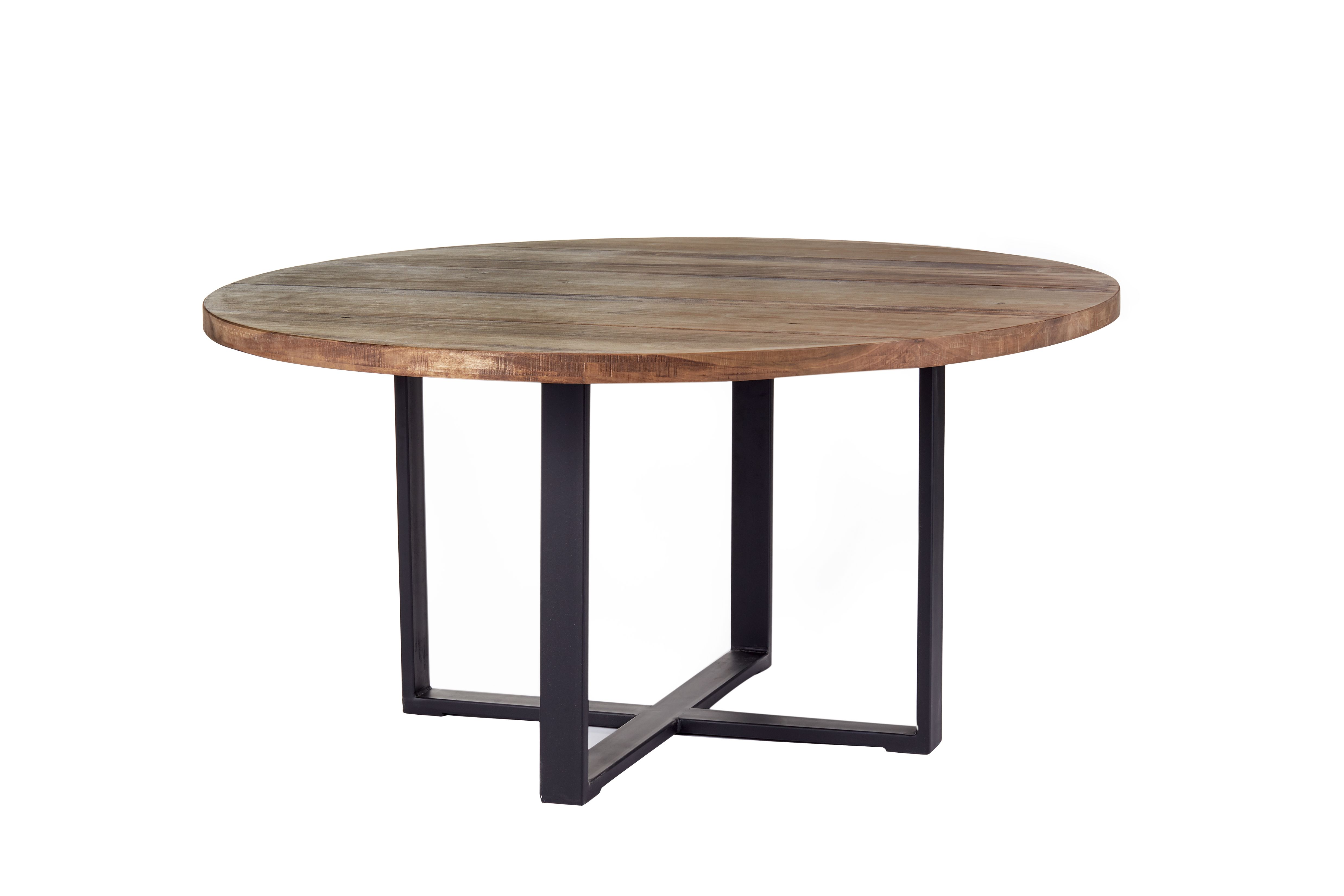 Custom industrial modern round dining table rustic dining for Modern round dining table