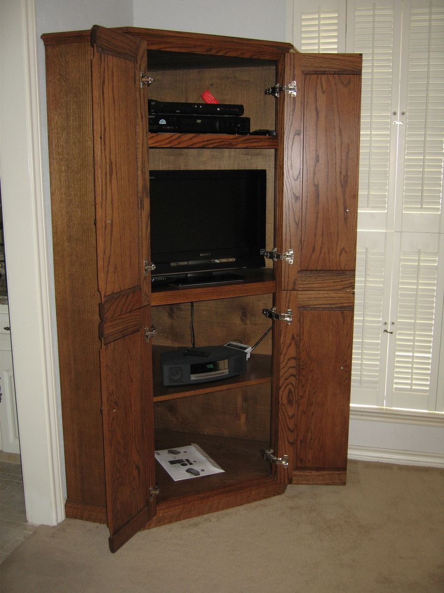 Hand Made Corner Tv Cabinet By John H Ellzey Custom