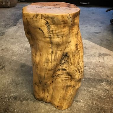Custom Made Maple Stump Table