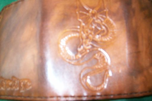 Custom Made Custom Leather Imperial Trifold Wallet With Dragon Design
