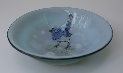 Custom Made Australian Blue Wren -Soup Bowl