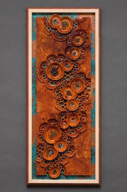 "Custom Made Wall Sculpture ""Ancient Tide Pools"""