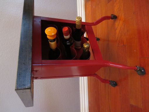 Custom Made Wine Side Cart