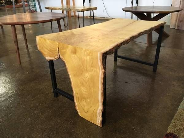 Marvelous Hand Made Mulberry Waterfall Edge Coffee Table With Steel Cjindustries Chair Design For Home Cjindustriesco