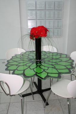 Custom Made Plasma Cut Metal Outdoor Tables - Cafe, Porch, Dining