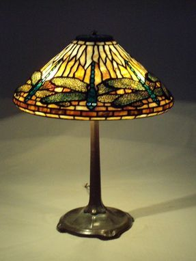 Custom Made Dragonfly Lampshade On Stick Base