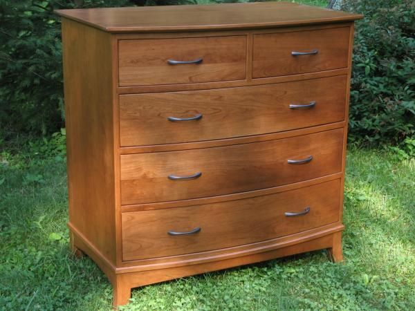 Custom Made 39 Crescent 39 Curved Solid Cherry Dresser By Ivy Lane Fine Furniture