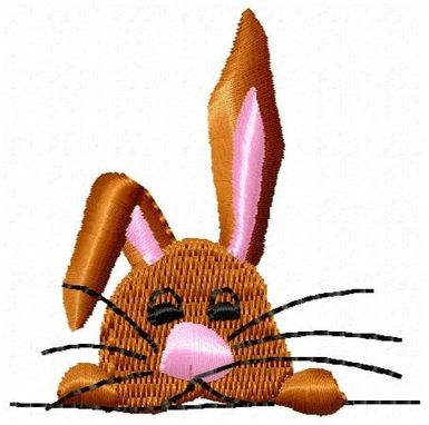 Custom Made Bunny Head Embroidery Design