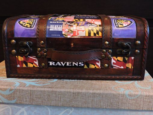 Custom Made Custom Keepsake Decoupage Trunk
