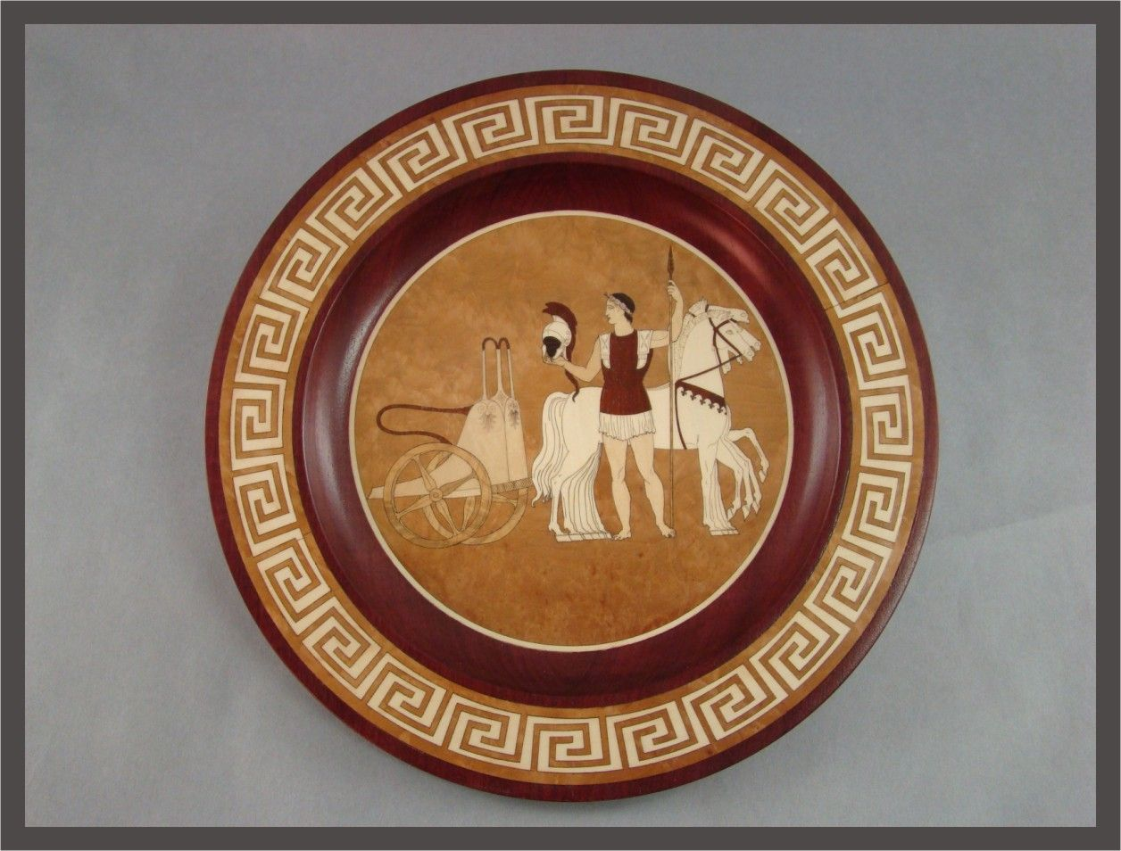 Hand Made Greek Plate By Mwb Studios Custommade Com
