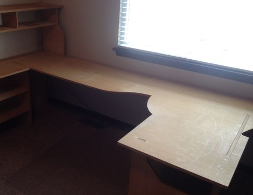 Custom Made Birch Plywood Desk No Hardware Required For Assembly