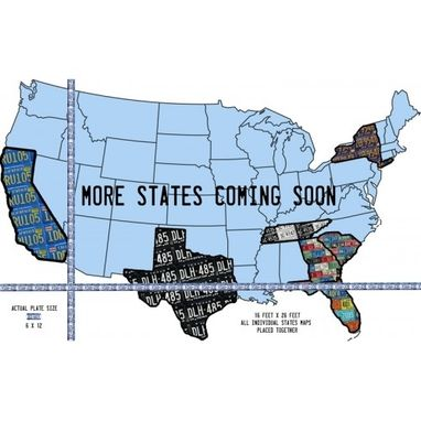 Custom Made Individual States United States Map