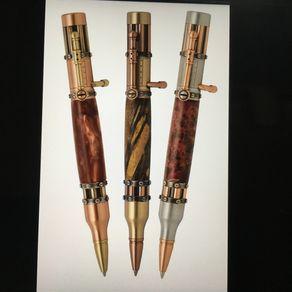 RECYCLED SKATEBOARD Handmade Wooden Wood Pen Style Military Hunter Caliber