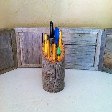 Custom Made Reclaimed Fence Post Pen/Pencil Holder
