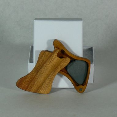 Custom Made Guitar Pick Case- Firebird  (Canarywood)