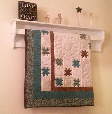 "Custom Made Quilt Rack And Hanger 36"" Wide"