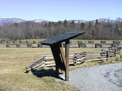 Custom Made Drover's Road Preserve Map Kiosk ~ Fairview, Nc